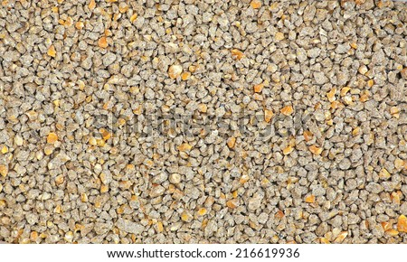 Special corn mix from all organic feed for chickens - stock photo