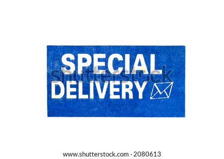 special delivery sign