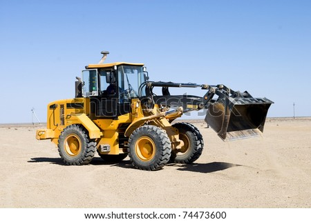 special equipment at the landfill - stock photo