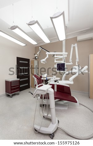 Special equipment use by the dentist - stock photo
