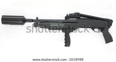 "special ""gas bomb dropper"" pump riffle - stock photo"