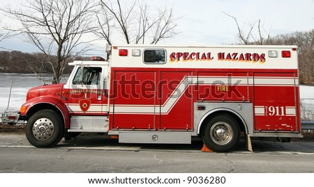 special hazards fire truck - stock photo