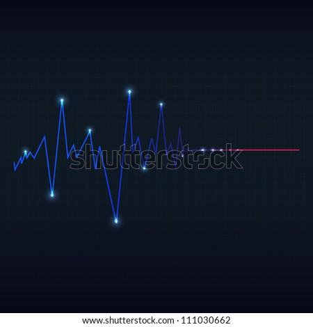 special heart cardiogram - stock photo