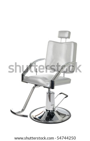 Special makeup artist chair isolated on white. - stock photo