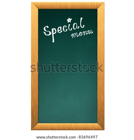 special menu blackboard - stock photo
