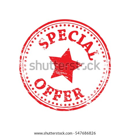 Special offer grungy rubber stamp symbol illustration