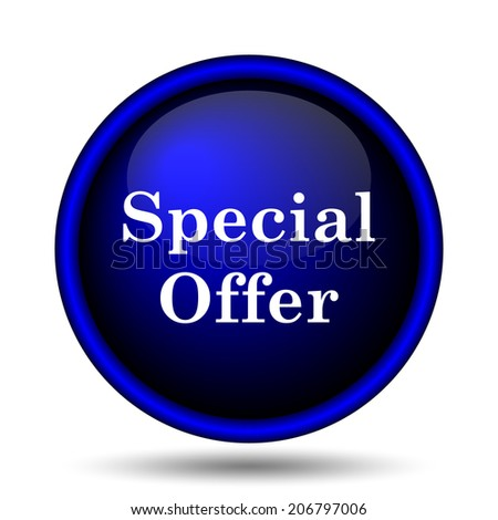 Special offer icon. Internet button on white background.  - stock photo