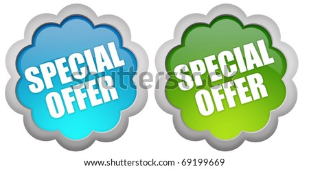 Special offer icons - stock photo