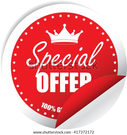 Special Offer Red Label, Sticker, Tag, Sign And Icon Banner Business Concept, Design Modern. - stock photo