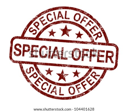 Special Offer Stamp Showing Discount Bargain Product