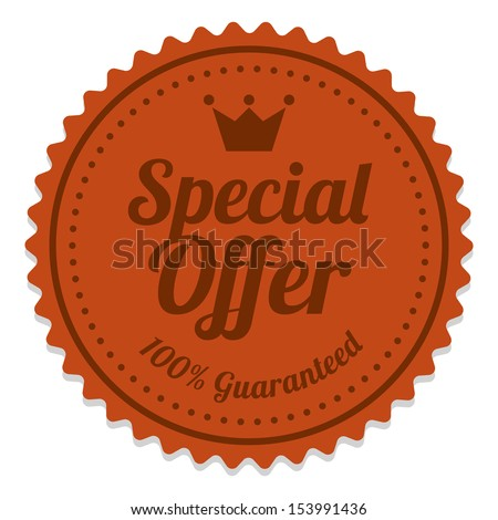 Special Offer Sticker and Tag Vintage - Red - stock photo
