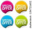 special offer sticker set - stock vector