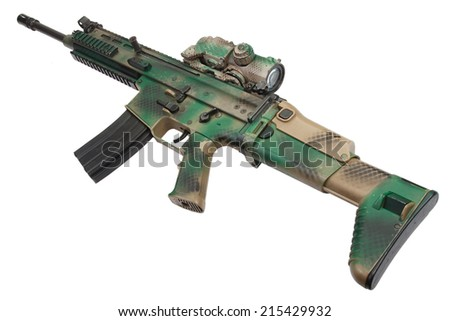 Special Operations Forces Combat Assault Rifle isolated - stock photo