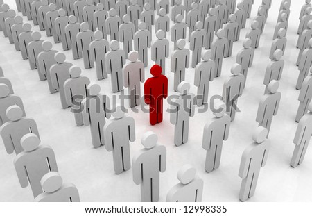special standing out from the crowd - stock photo