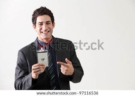 special tag for business man - stock photo