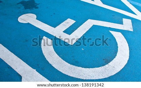 Specific areas. For people with disabilities. - stock photo
