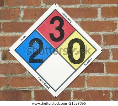 Specific Hazard Warning Sign - stock photo