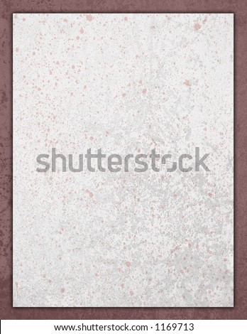 Speckled splattered Stationery on decorative paper - stock photo