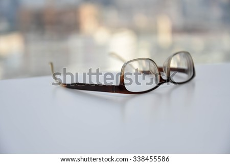 spectacles eyeglasses - stock photo