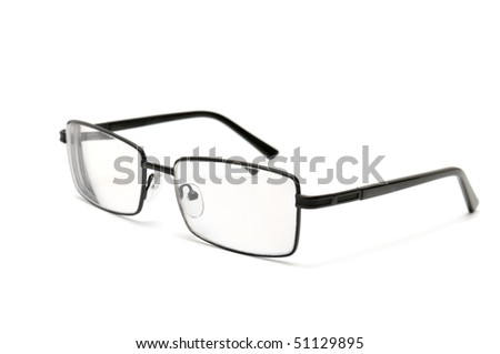 spectacles isolated on a white - stock photo