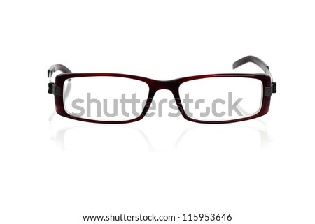 Spectacles on white with shadow - stock photo