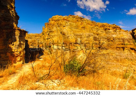 Spectacular beautiful landscape of the rocks in Madagascar, Africa - stock photo