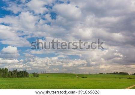 Spectacular Cloudscape Clean Air  - stock photo