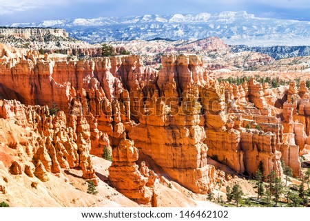 spectacular Hoodoo rock spires of Bryce Canyon, Utah, USA - stock photo