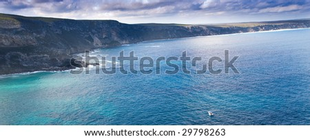 spectacular ocean view landscape - stock photo