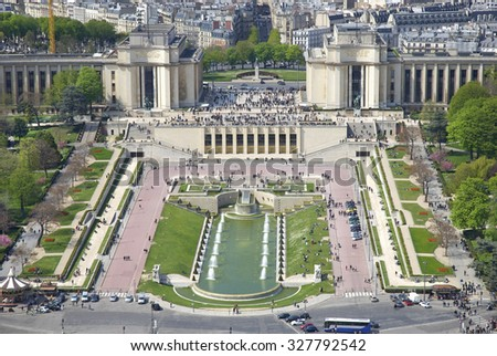 Spectacular view of Paris, France - stock photo