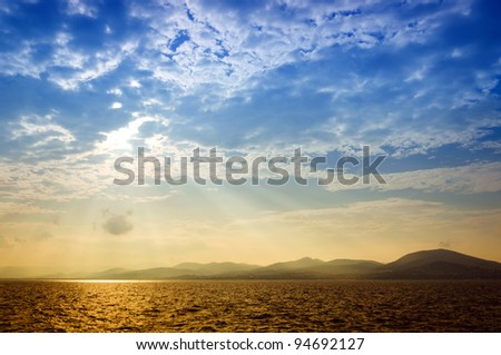 Spectacular view of the lagoon, Saint-Tropez, France - stock photo