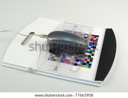spectrophotometer and test Arch - stock photo