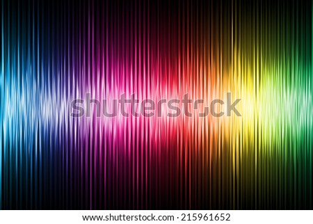 Spectrum sound wave - stock photo
