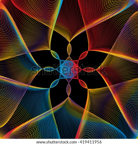Spectrum Strings Pattern - stock photo