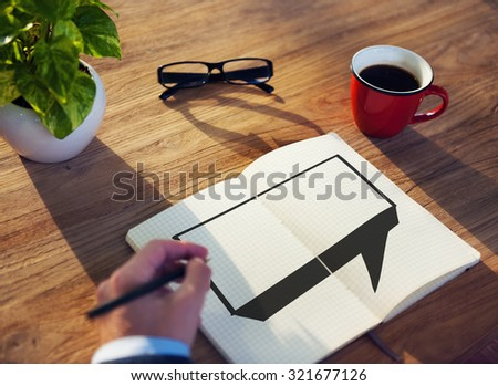 Speech Bubble Discussion Talking Symbol Concept - stock photo
