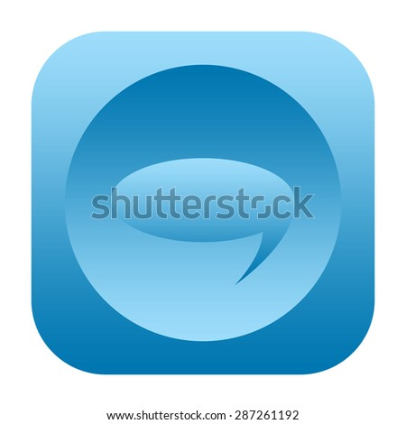 Speech bubble icon - stock photo