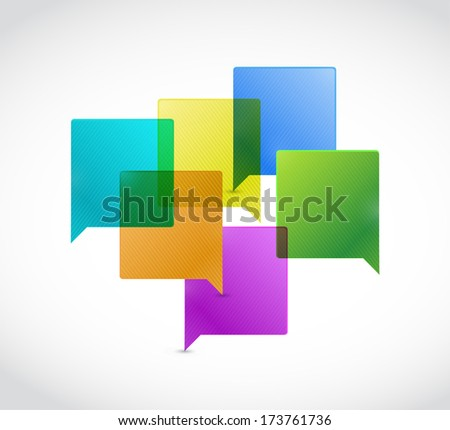 speech bubble illustration design over a white background