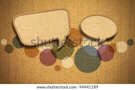 Speech bubble on Corkboard background - stock photo