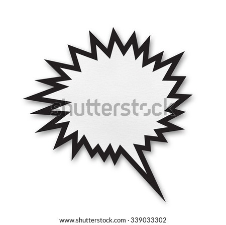 Speech bubble on white background