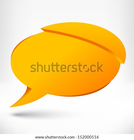 Speech bubble origami style. Abstract background. This is raster version.
