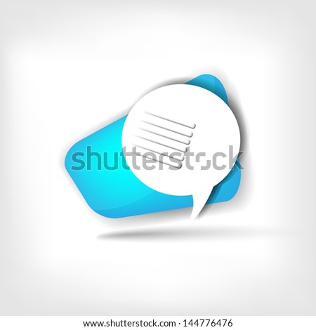 Speech bubble web icon - stock photo