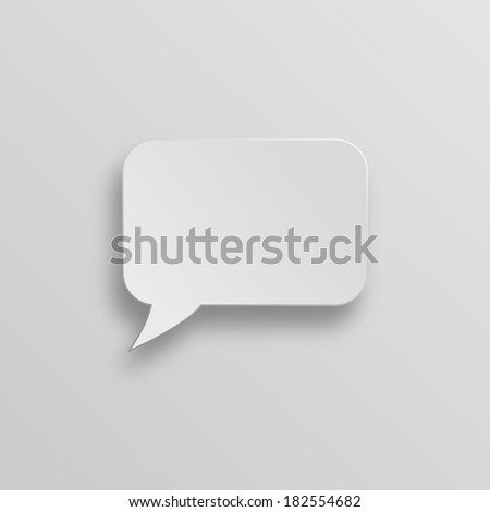 Speech bubble with house icon