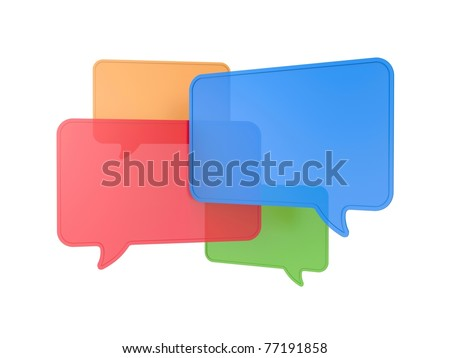 Speech bubbles - stock photo