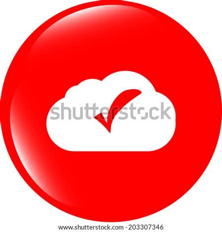 speech bubbles cloud with check mark web icon - stock photo