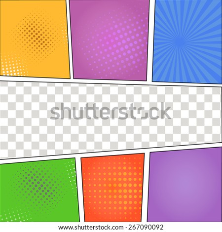 Speech Bubbles in Pop-Art Style background  - stock photo
