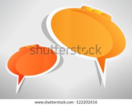 Speech bubbles, jpeg version - stock photo