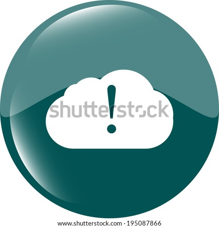 speech bubbles with exclamation mark web icon - stock photo