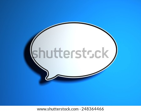 Speech bublle - stock photo