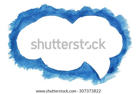Speech cloud - stock photo
