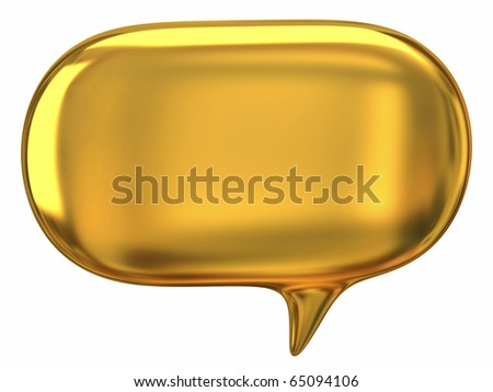Speech golden bubble - stock photo